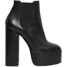 Laurence Dacade Women 150mm Laurence Leather Ankle Boots (21.380 ARS) ❤ liked on Polyvore featuring shoes, boots, ankle booties, black, short black boots, black high heel booties, high heel ankle boots, leather ankle boots and leather booties