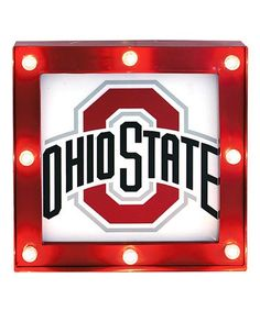 Love this Ohio State Buckeyes Light Box on #zulily! #zulilyfinds