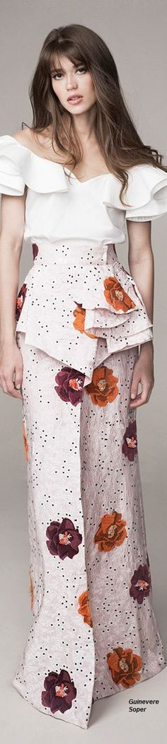 Get inspired and discover Johanna Ortiz trunkshow! Shop the latest Johanna Ortiz collection at Moda Operandi. Floral Fashion, Look Fashion, Covet Fashion, Runway Fashion, High Fashion, Fashion Outfits, Womens Fashion, Fashion Design, Fashion Trends