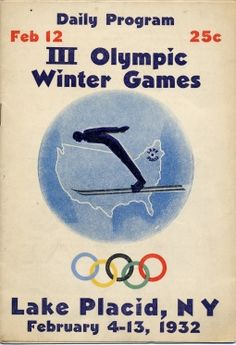 Adirondack Museum | 1932 Olympic Games Program