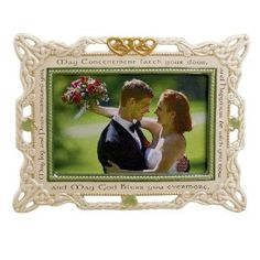 Grasslands Road Celebrating Heritage Celtic Wedding Ceramic Frame, 7 by 9-Inch, Holds 4 by 6-Inch Photo: Wedding gift