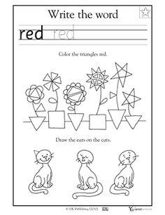 Coloring triangles - Worksheets & Activities | GreatSchools