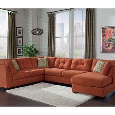 Exchange burnt orange rust sofa