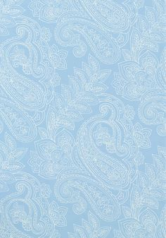 Norwich Paisley #wallpaper in #blue from the Avalon collection. #Thibaut