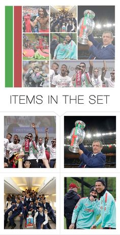 """You are the champions of criticism and we are the Champions of Europe!"" by erika-sads ❤ liked on Polyvore featuring art, soccer, football and portugal"
