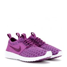 Nike Nike Juvenate Sneakers ($105) ❤ liked on Polyvore featuring shoes, sneakers, nike, purple, purple sneakers, dot shoes, purple shoes and nike trainers
