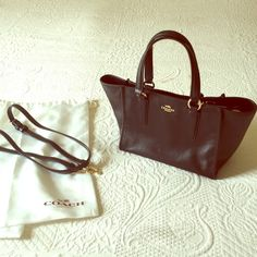 Black coach purse Like new only used for two hours. Stored in white satin bag at all times. Coach Bags Shoulder Bags