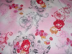 rose toile fabric