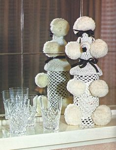 crochet_poodle_bottle. Lol oh em gee my mom made these as a kid and then made me put them in my bedroom for decoration lol