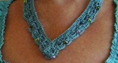 Crochet Beaded Necklace Quick & Easy   Craftsy