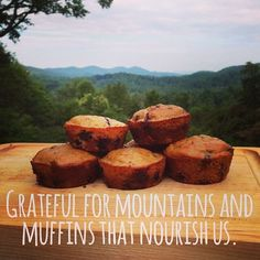 Mountain Muffins - Love Grain mix + fresh blueberries, or sub in your favorite fruits and nuts for a delicious and healthy breakfast. Make a batch and freeze them for a quick breakfast on the go!