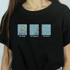Details über Hipster Meme Lustiges Unisex-T-Shirt Van Gogh Van Goghing Van Gone - Lets