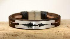 Sound Wave Bracelet Men's Bracelet Leather Bracelet Personalized Women Bracelet  Customized Voice  Mens Gift Women Leather by PukkaMen on Etsy https://www.etsy.com/listing/294977575/sound-wave-bracelet-mens-bracelet
