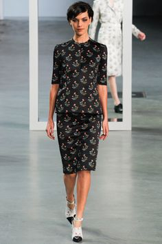 Derek Lam fall '12: patterned top & skirt