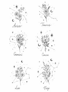 Cute Tiny Tattoos, Bff Tattoos, Dainty Tattoos, Zodiac Tattoos, Dream Tattoos, Little Tattoos, Friend Tattoos, Pretty Tattoos, Mini Tattoos