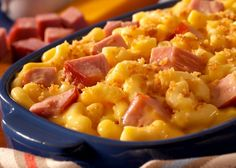 Ham and Mac-and-Cheese (with shirataki noodles)