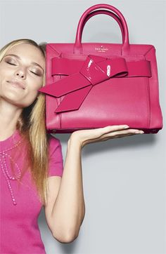 kate spade 'bow valley - rosa' satchel