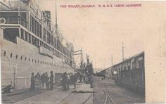Durban The Wharf RMSS Saxton along Historical Society, Genealogy, South Africa, Maine, Photos, Pictures, River, History, Xmas