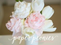 Learn how to create paper peonies with crepe paper. Learn how to create paper peonies with crepe paper. Fake Flowers, Diy Flowers, Fabric Flowers, Flower Diy, Peony Flower, Coffee Filter Flowers, Paper Peonies, Peonies Bouquet, Fleurs Diy