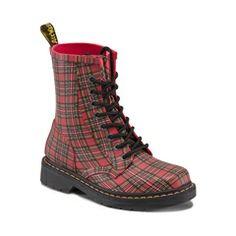 Love this Red Stewart Tartan Drench Rain Boot by Dr. Martens on Dr. Martens, Botas Dr Martens, Dr Martens Boots, Dr Martens Tienda, Rain Boots, Shoe Boots, Ankle Boots, Dr Martens Store, Stewart Tartan