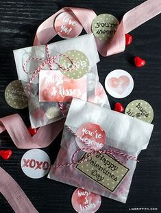 We all love that surprise treat and what perfect day to spread the joy. With this set of labels you can add a special touch on a treat for your friends, co-workers and the love of your life. Designed by the team at liagriffith.com, these labels come in a playful ...