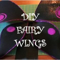 DIY Fairy Wings  (This will work great for any kind of winged costume!)