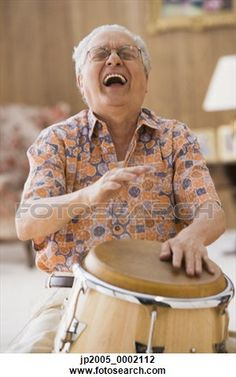 Laughter Is the Best Medicine. Think, you can take up drumming if it makes you feel as good as he looks laughing.