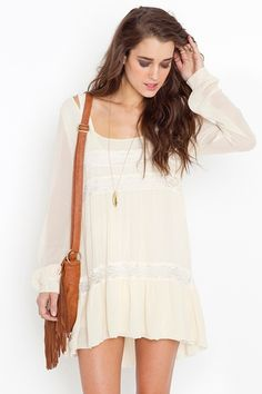 Bowery Dress - Ivory <3