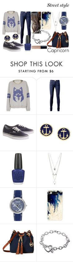 """""""Capricorn - Polyvore"""" by blueofsymphony ❤ liked on Polyvore featuring Wildfox, Tommy Hilfiger, Vans, Brooks Brothers, OPI, Charlotte Russe, Sperry, CellPowerCases, MICHAEL Michael Kors and Butter London"""