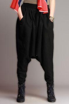 Cotton Low Crotch Harem Pant/ Baggy Aladdin di LittleLilbienen, $40.00