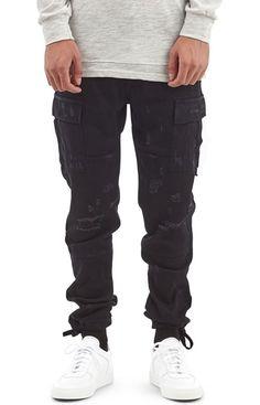 10b266dba2 I Love Ugly, Cargo Pants - Black - I Love Ugly - MOOSE Limited Pants