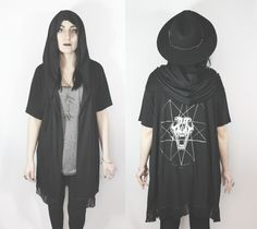 Witching Hour  oversized fringe cloak by SOVRIN on Etsy, $65.00