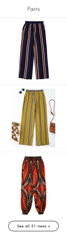 """""""Pants"""" by zaful ❤ liked on Polyvore featuring pants, striped trousers, high waisted wide leg pants, striped wide-leg pants, wide leg pants, stripe pants, high waisted trousers, striped wide leg trousers, striped pants and high waisted striped pants"""