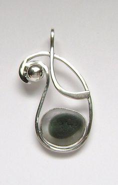 Sterling Rare Victorian English Sea Glass Pendant #sea glass beads & #sea charms: http://www.ecrafty.com/c-780-sea-glass-beads.aspx?pagenum=1===newarrivals=60