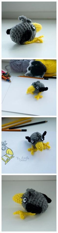Free amigurumi pattern: the Little Crow by #tinyAlchemy (free pdf download on Craftsy)