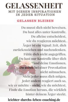Tips for more serenity and inner peace. Exercise serenity and master every difficult situation. Informations About Gelassenheit lernen: Deine Bucket List fü Meditation Quotes, Yoga Quotes, Mindfulness Meditation, Quotes Quotes, Psychology Quotes, Peace Quotes, Nutrition, Health Education, Health Motivation