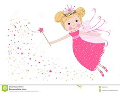 Cute Fairy Tale With Stars Vector Stock Vector - Image: 65251311