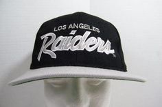 Vintage Sports Specialties NFL Los Angeles Raiders Baseball Snapback Cap Hat #SportsSpecialties #Snapback