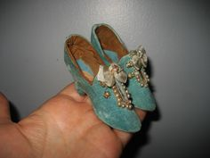 Old Pre Victorian Style Shoes for French Boudoir Bed or Antique Fashion Doll | eBay