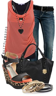 """Untitled #186"" by skittles2003 ❤ liked on Polyvore. Great outfit for going out with the girls!"