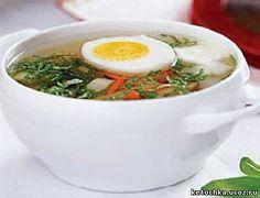 Летний суп из щавеля с яйцом