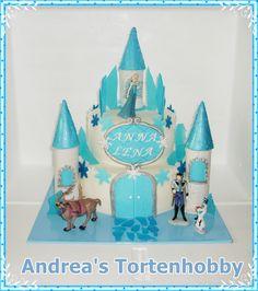 Frozen Castle Cake, Eiskönigin Schloss Torte