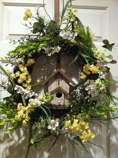 Spring Grapevine Wreath Ideas | Grapevine Wreath with Birdhouse and Spring by DesignTwentyNineSC, $55 ...