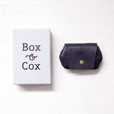 Box & Cox ボックス・アンド・コックス/ Hippo - leather coincase : navy ヒッポ レザー コイン ケース ネイビー - struct / blueover WONDER BAGGAGE 大阪 セレクトショップ
