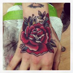 theghostofmine:  a rose always makes for a good tattoo, especially on the hand