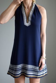 Stitch Fix April 2016: THML Chana Embroidered Dress |www.pearlsandsportsbras.com|