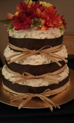 country bridal shower ideas | Rustic country theme cake for bridal shower... | Cake ideas