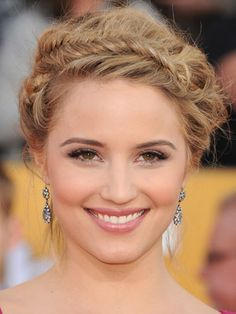 Famous Actress,Cheer-Leader,Dancer From Glee Fox 7 Channel  with the Braided Beauty Updo-Hairdo.