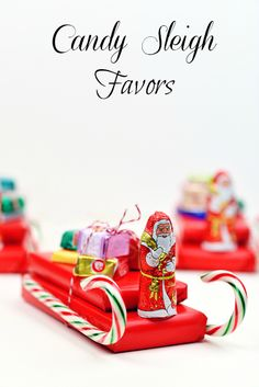 These DIY candy sleighs make perfect homemade stocking stuffers for kids!
