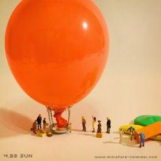 Departure Miniature Photography, Figure Photography, World Photography, Little People Big World, Minis, Matchbox Crafts, Miniature Calendar, Tiny World, Miniature Figurines
